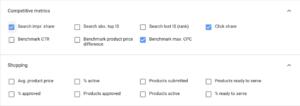 Shopping specifikus riporting Google Ads-ben